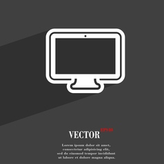 monitor icon symbol Flat modern web design with vector image
