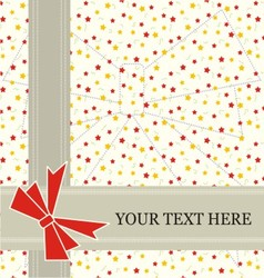 star invitation card vector image vector image