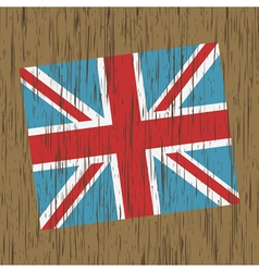 uk flag on wood vector image