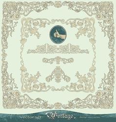 Vintage ornate frames ornaments vector image