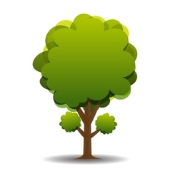 A stylized drawing of a green olive vector