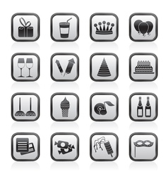 birthday and party icons vector image vector image
