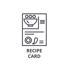 recipe card line icon outline sign linear symbol vector image vector image