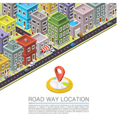 road in the city isometric vector image vector image