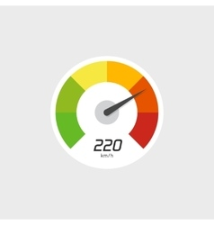 Speedometer icon isolated with speed vector image vector image