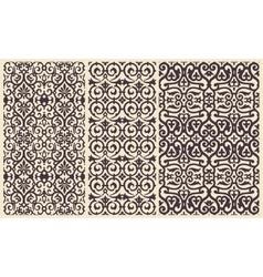 Baroque Pattern set with Floral Details vector image