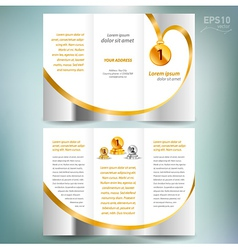 brochure design template leaflet award winner vector image