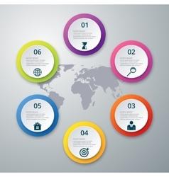 infographics six options vector image
