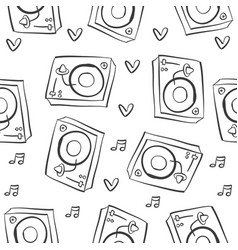 musical instrument pattern style collection vector image