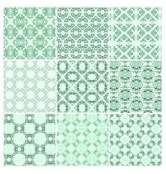 set of nine seamless pattern vector image vector image