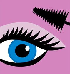female eye mascara vector image