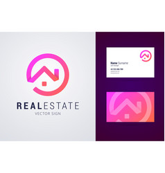 real estate logo template vector image