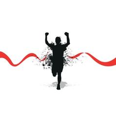 runner backgrounds vector image vector image