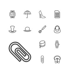 13 accessory icons vector