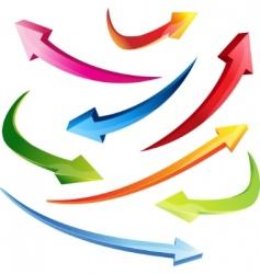 3d set arrows vector image