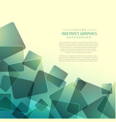 Abstract background with random square shapes vector