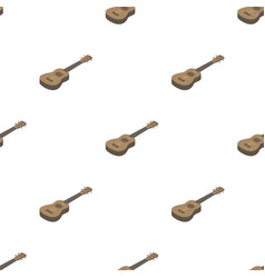 Acoustic bass guitar icon in cartoon style vector
