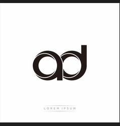 Ad initial letter split lowercase modern monogram vector