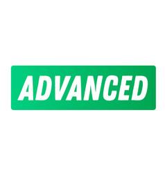 Advanced advertising sticker vector