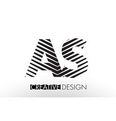 as a s lines letter design with creative elegant vector image