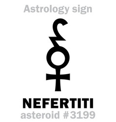Astrology asteroid nefertiti vector