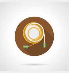 audio cable flat round icon vector image