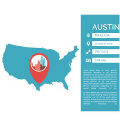 Austin map infographic vector