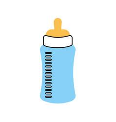 Baby shower bottle milk little decorative vector