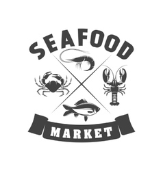 Badge Seafood vector