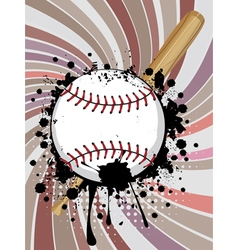 Baseball Ball on Background with Rays4 vector image