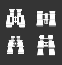 binoculars icon set grey vector image