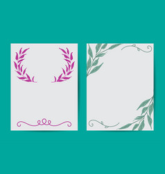 botanical banners set with pink peony and white vector image