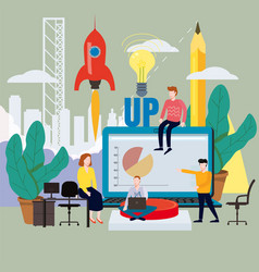 business project launch process ideas from vector image