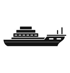 cargo ship icon simple style vector image