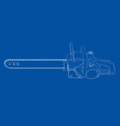 chain saw rendering 3d vector image