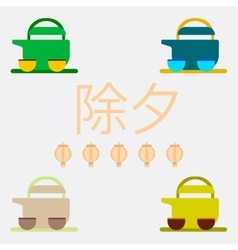 Chinese Tea collection of vector