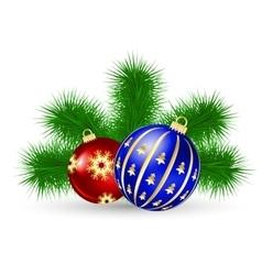 Christmas tree and ball vector image