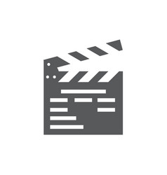 clapper board icon on white background vector image