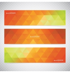 Colorful Horizontal Set Of Banners Mosaic vector image