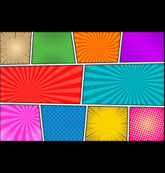 Comic book colorful background vector