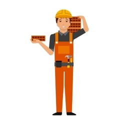 Construction worker cartoon icon vector