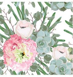 delicate pattern flowers eustoma vector image
