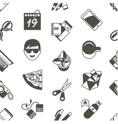 Digital freelance workspace icons vector
