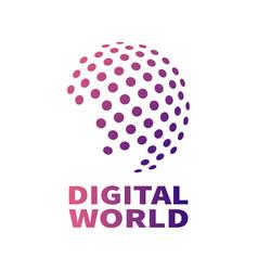 digital global technology concept vector image
