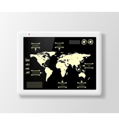 Digital tablet with infographics vector