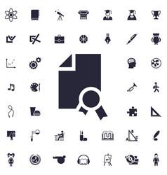 Dipolma icon vector