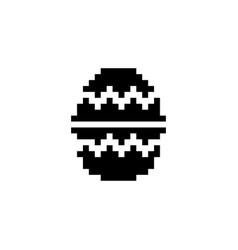 Easter egg pixel icon celebration vector