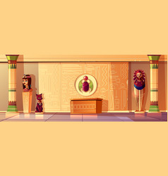 Egyptian set - queen bust pharaoh vector