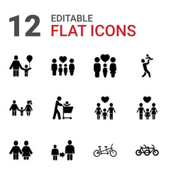 father icons vector image