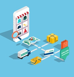 Flat 3d web isometric e-commerce electronic vector